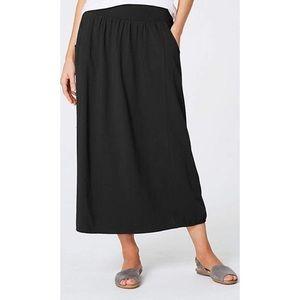 PureJill | Black Long Pocket Skirt